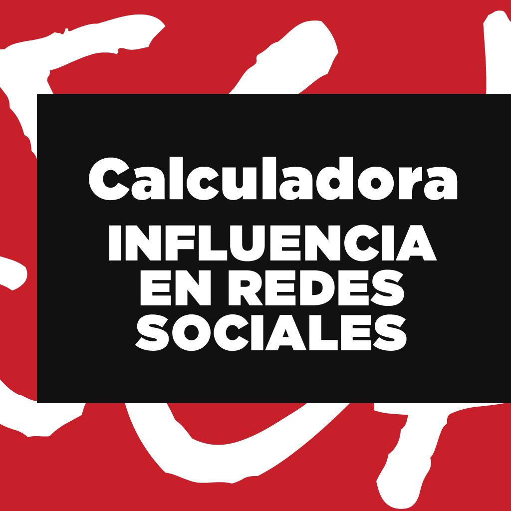 calculadora de influencia de redes sociales
